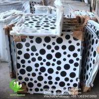 China Perforated Round Hole Aluminum Carved Panel Outside Wall Covering 1500x5000mm wholesale