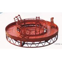 Red Rounded Lifting Powered High Working Rope Suspended Platform for Building for sale