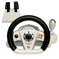 Adjustable Wireless / Wired PC Game Racing Wheel For Platform