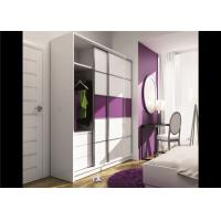 China Particle Board Walk In Wardrobe Eco - Friendly With Mirror Sliding Door wholesale