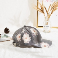 China Constructed 54cm Embroidered Baseball Caps Flower Printing wholesale
