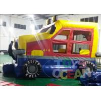 Quality Colorful Mini Inflatable Bounce House Jumper Monster Car for Children Park for sale