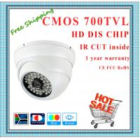 China 700TVL Color CMOS camera with IR-CUT weatherproof mini Dome security Camera 48 IR fixed lens day night CCTV Camera wholesale
