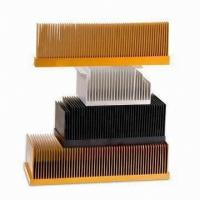 China T4 , T5 Clear Smooth Aluminum Heatsink Extrusion Profiles With Wood Chromizing / Chromising wholesale
