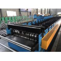 China Building Material Metal Floor Decking Sheet Roll Forming Machine With Embossing Roller wholesale