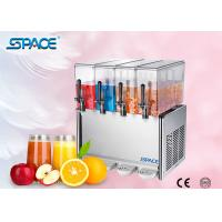 China 4 X12L Commercial Juice Dispenser Machine , Refrigerated Beverage Dispenser wholesale