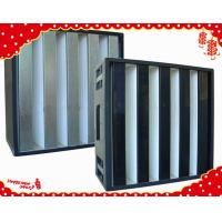China 595x595x292mm ABS plastic frame compact V cell hepa air filters for ventilation filter wholesale