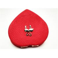 China Foldable Heart Shape Pocket Cosmetic Mirror For Hair Accessory on sale