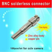 China 100PCS/lot BNC solderless connector  American type BNC Connector for cctv accessory wholesale