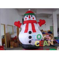 China Christmas Outdoor Advertising Inflatables Durable With Snowman wholesale