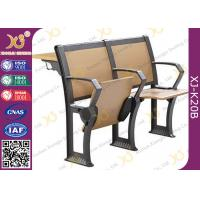 China Gravity Return Finished Black Epoxy Powder Lecture Hall Seats With Writing Board wholesale