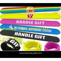Buy cheap 2016 newest high qualit promotional gift silicone custom slap wristband from wholesalers