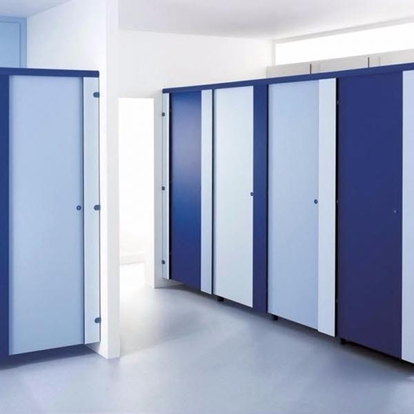 Bathroom Doors Waterproof: Bathroom Waterproof Wood Grain Color Partition Door Of