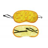 Wholesale Cute Pattern Sleeping Blindfold Eye Shade With Durable Yellow Polyester Material from china suppliers