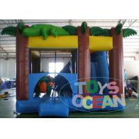 China 0.55mm PVC Inflatable Amazon Crocodile Bouncer Combo With Slide wholesale