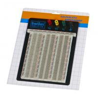 China DIY 2390 Points Transparent Breadboard With Blue / Red Contacts wholesale