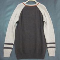 China Shirt Knitted Mens Wool Sweaters Striped Anti-pilling with breathable wholesale