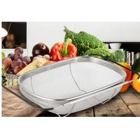China 2019 hot sale Colander collapsible Over The Sink stainless steel Vegetable/Fruit Strainer on sale