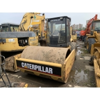 Quality Used Caterpillar CS-583D Single Drum Road Roller 6.6L Displacement for sale
