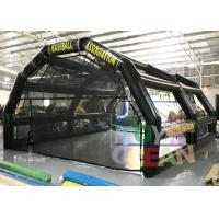 China PVC Tarpaulin Black Inflatable Batting Cage , Inflatable Baseball Games For Adults wholesale