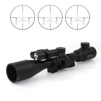 China Tactical Accessories 1/4 MOA Click Rifle Scope With Red Laser And Flashlight Hunting Riflescope wholesale