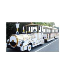 Buy cheap 410*160*24cm Electric Trackless Train , Electric Riding Train For Theme Park from wholesalers
