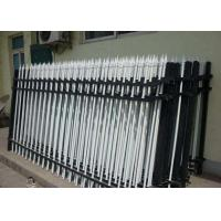 China Security Powder Coated Zinc Steel Picket Fence For Residential , Heat Treated on sale