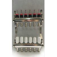 China White Color Control Floor Heating Manifold Italy Style Flow Meter wholesale
