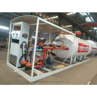 China Skid Mounted LPG Gas Tank For Mobile LPG Filling Stations With  Digital Scales wholesale