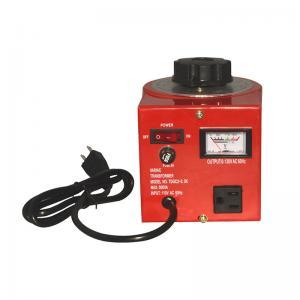 China Contact Type 220V Variac Voltage Regulator Single Phase Variac Variable Transformer wholesale