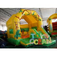 China PVC Vinyl Tarpaulin Mini Jungle Jumping Inflatable Bouncy House With Slide wholesale