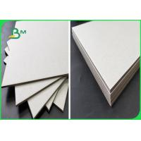 China 800GSM Recycled Pulp Chipboard  Uncoated All Grey With FSC For Binder Cover wholesale