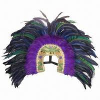 China Feather Headband, Various Colors and Designs are Available, Suitable for Party Use wholesale