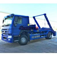 China 4x2 HOWO 10m3 / 12m3 Swing Arm Garbage Truck , Skip Loader Garbage Collection Truck on sale