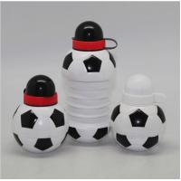 China 450ML Foodball&soccer Collapsible Foldable water bottle,BPA free soccer plastic sports water bottles on sale