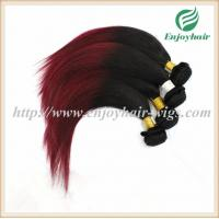 China Brazilian virgin hair weave , natural color/99J# 10''-26''length straight hair extension on sale