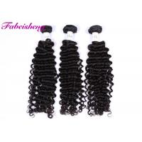 China Virgin Peruvian Deep Wave Hair Extensions No Smell No Synthetic on sale