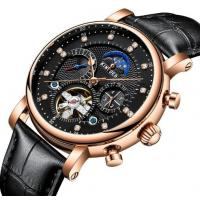 China Wholesale Fully Automatic Mechanical Genuine Leather Strap Fashion Men Skeleton Wrist Watches JYD-J025 wholesale