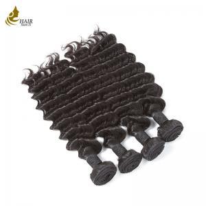 Buy cheap Virgin Hair Deep Wave Bundles Human Hair Extension 3 Bundles Longest Hair from wholesalers