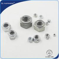 China Galvanised / Natural Color Surface Metal Insert Lock Nut Zinc Plated Finish wholesale