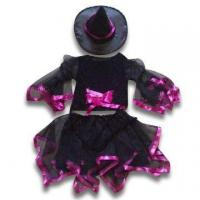 China 3-piece Halloween Set, Made of 100% Polyester, Suitable for Parties, Available in Black and Pink wholesale