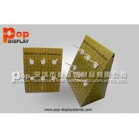 China Hair Accessories Corrugated Counter Display With Easy Assemble Euro Hooks on sale