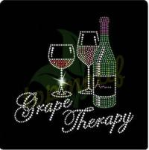 China Fashion Grape Therapy Wine Hot Fix Motif For T-Shirt Hoodies wholesale