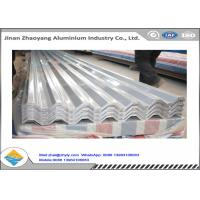China Coated Corrugated 0.23 - 0.7mm Thick Aluminum Roofing Sheet H14 H24 H18 H112 Waterproof wholesale