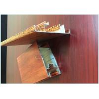 China Customized Hollow Wood Finish Aluminium Profiles Lightweight For Windows wholesale