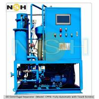 China SINO-NSH Centrifugal oil purifier, Fully touch screen with PLC auto control, mobile type with various colors wholesale