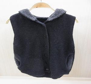 China Spring Bifurcate Womens Wool Skirts Knit Sweater Vest / Hooded Jacket wholesale