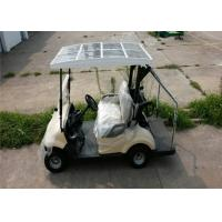 Solar Panel 2 Seater Golf Carts 48V Battery 3KW DC Motor High Security Performance