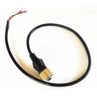 China Driving Safty Mini Din 6 PIN Connector Backup Camera Cable With Single shielding wholesale