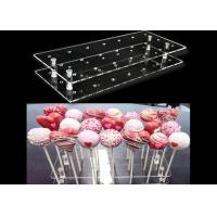 China Multi Function Clear Acrylic Lollipop Holder Acrylic Cake Pop Stand Lightweight wholesale